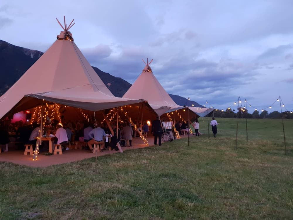 a Teepee may be the look you are after